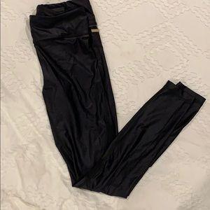 Alala Iridescent/Mesh Black Leggings - Size S